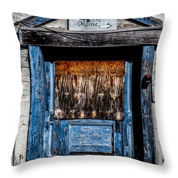 Bates Of Maine Throw Pillow by Bob Orsillo