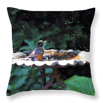 Bath Time Throw Pillow by Katherine White