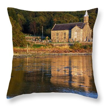 Bathed In Gods Light Throw Pillow by Wendy Wilton