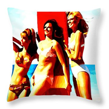 Bathing Beauties No. 3 Throw Pillow