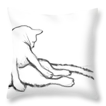 Bathing Beauty Throw Pillow by Ginny Schmidt