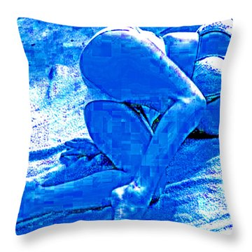 Bathing In Blu Light Throw Pillow