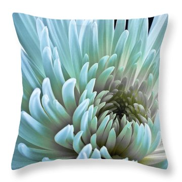 Bathing In Blue Throw Pillow
