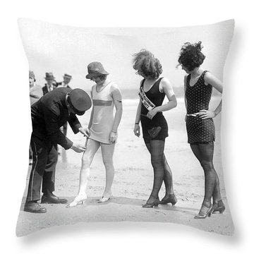 Bathing Suit Fashion Police Throw Pillow