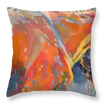 Bathtime  Throw Pillow by Kimberly Santini