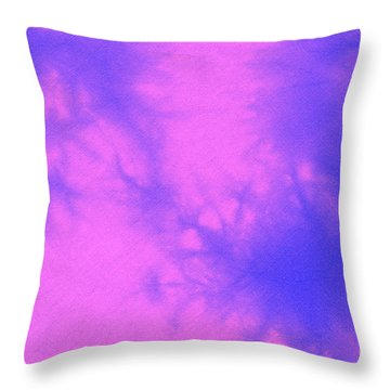 Batik In Purple And Pink Throw Pillow by Kerstin Ivarsson