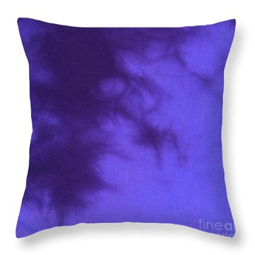 Batik In Purple Shades Throw Pillow by Kerstin Ivarsson