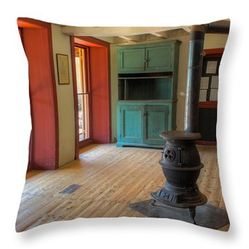 Throw Pillow featuring the photograph Batsto General Store by Glenn DiPaola