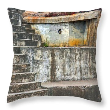 Throw Pillow featuring the photograph Battery Chamberlin by Kate Brown