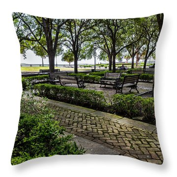 Battery Park Throw Pillow by Sennie Pierson