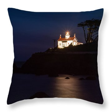 Battery Point Lighthouse Throw Pillow