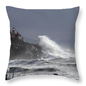 Battery Point Storm Throw Pillow