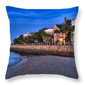 Battery Row Throw Pillow