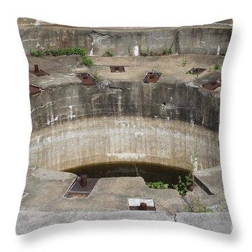 Battery Stevenson Fort Warren Throw Pillow