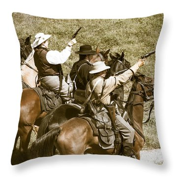 Battle Charge Throw Pillow by Steven Bateson