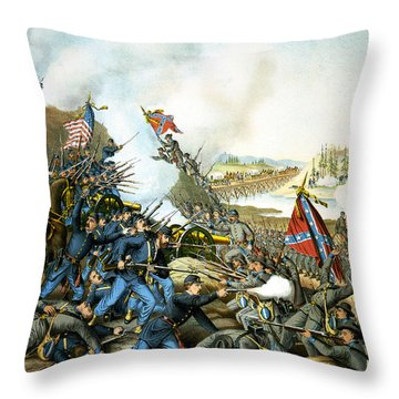 Battle Of Franklin Throw Pillow by Unknown