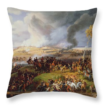 Battle Of Moscow Throw Pillow by Louis Lejeune