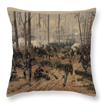 battle of Shiloh Throw Pillow