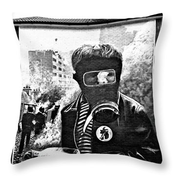 Battle Of The Bogside Mural Throw Pillow by Nina Ficur Feenan