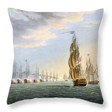 Battle Of The Nile Throw Pillow