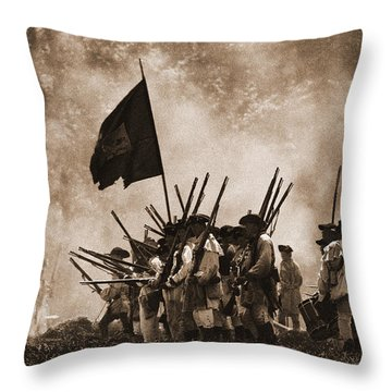 Battle Of Wyoming II Throw Pillow by Jim Cook