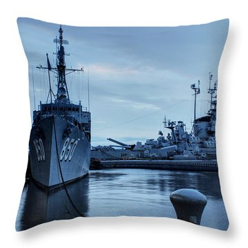 Battleship Cove Throw Pillow