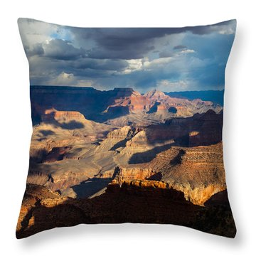 Battleship Rock In The Shadows Throw Pillow