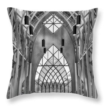 Baughman Meditation Center Throw Pillow by Howard Salmon