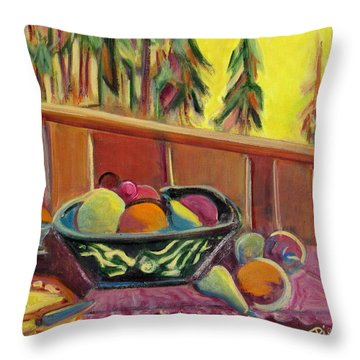 Bavarian Breakfast With Strawberry Milk Throw Pillow by Betty Pieper