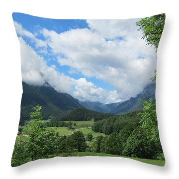 Throw Pillow featuring the photograph Bavarian Countryside by Pema Hou