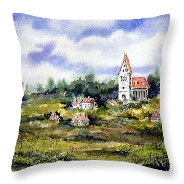 Bavarian Village Throw Pillow