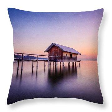 Bavarian Winter Wonderland Throw Pillow