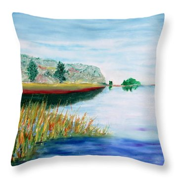 Bay Away Throw Pillow