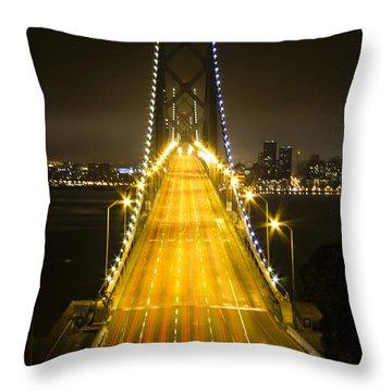 Bay Bridge Traffic Throw Pillow