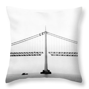 medium bridge construction site construction site throw pillows fine art america
