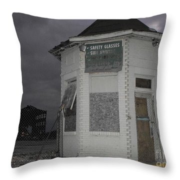 Bay City American Hoist Guard House Throw Pillow