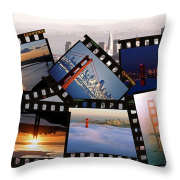 Throw Pillow featuring the photograph Golden Gate Collage by Christopher McKenzie