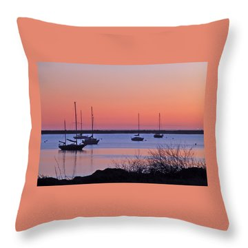 Bay Harbor Throw Pillow by K L Kingston