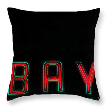 Bay In Neon  Throw Pillow by Kris Hiemstra