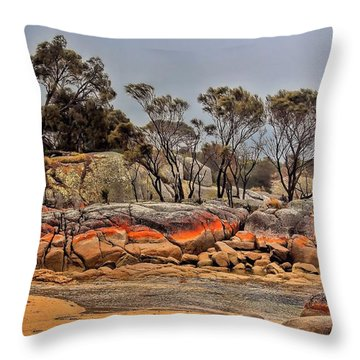 Throw Pillow featuring the photograph Bay Of Fires 2 by Wallaroo Images