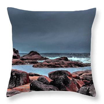 Throw Pillow featuring the photograph Bay Of Fires 3 by Wallaroo Images