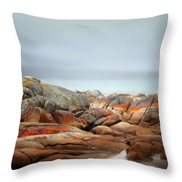 Throw Pillow featuring the photograph Bay Of Fires 4 by Wallaroo Images