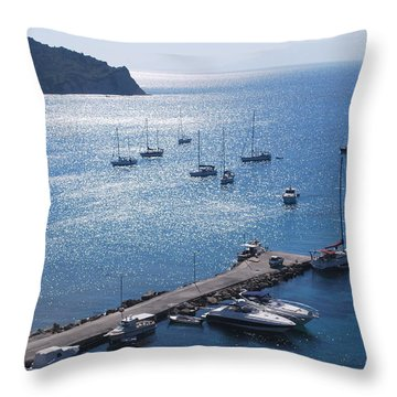 Throw Pillow featuring the photograph Bay Of Porto by George Katechis