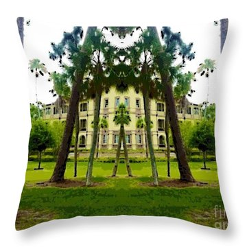 Bay Pines Throw Pillow by Caroline Gilmore
