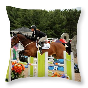 Bay Show Jumper Throw Pillow