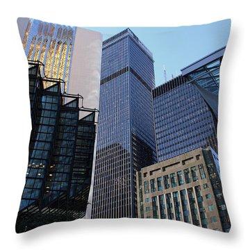 Bay Street Toronto Throw Pillow by Nicky Jameson