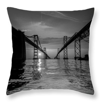 Bay Bridge Strength Throw Pillow by Jennifer Casey