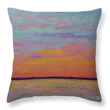 Bay Sunset Throw Pillow by Gail Kent