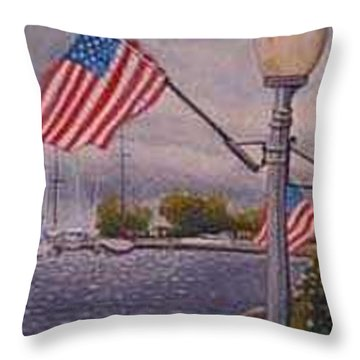 Bayfield On The 4th Throw Pillow by Rick Huotari