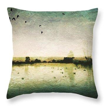 Baylands At Sunset Throw Pillow